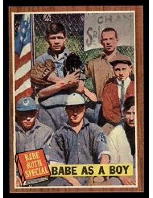 1962 Topps #135 Babe Ruth As A Boy EX++ 70/30