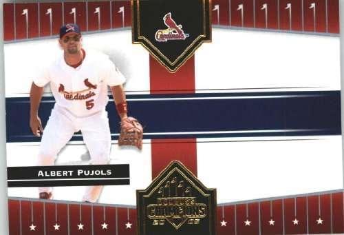 2005 Donruss Champions Impressions #3 Albert Pujols St. Louis Cardinals Silver Holo Foil Baseball Card