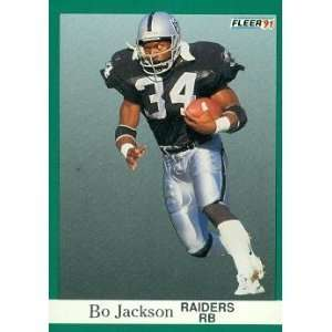 1991 Fleer #110 Bo Jackson Los Angeles Raiders Football Card - Mint Condition - Shipped In Protective Screwdown Display Case!