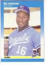 Bo Jackson 1987 Fleer Glossy Baseball Card #369 (Fleer Rookie Card)