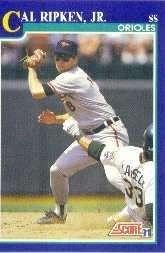 1991 Score Cal Ripken Baseball Card #95 - Shipped In Protective Display Case!