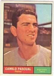 1961 Topps #235 Camilo Pascual Baseball Card