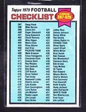 1979 Topps #486 Checklist No. 4 -- -- Football Card - Shipped In A Protective Screwdown Display Case!