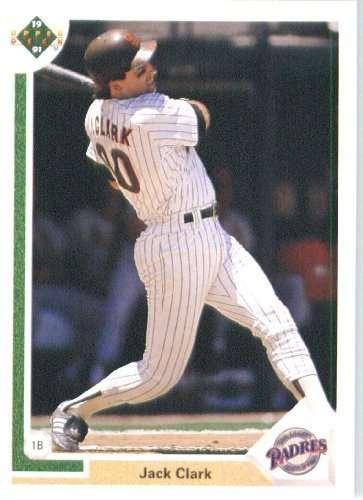 1991 Upper Deck #331 Jack Clark San Diego Padres / MLB Baseball Card in Protective Display Case!