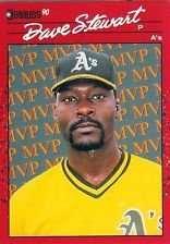 1990 Donruss Dave Stewart Baseball Card #BC-3
