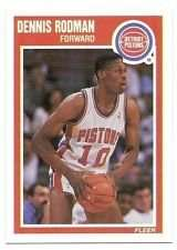 1989-90 Fleer Dennis Rodman Basketball Card #49