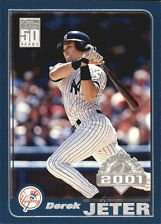 Derek Jeter 2001 Topps Opening Day Baseball Card #35 (50 Years)