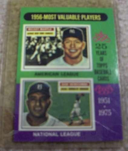 1975 Topps Mickey Mantle and Don Newcombe #194 MLB Baseball Card