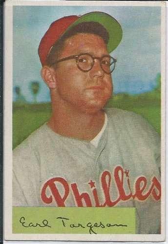 1954 Bowman Card #63 Earl Torgeson