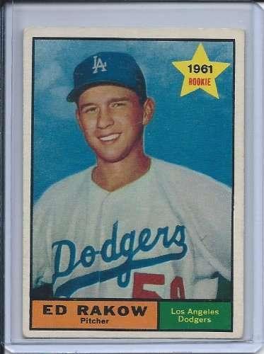 1961 Topps #147 Ed Rakow Dodgers (Rookie)