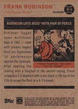 Frank Robinson 2011 Topps Heritage Flashbacks Baseball Card #BF-9