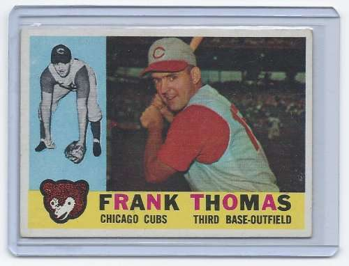 1960 Topps #95 Frank Thomas EX - Excellent or Better