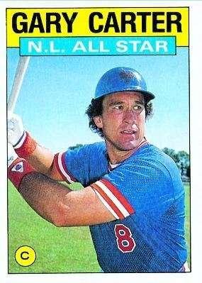 1986 Topps #708 Gary Carter AS - New York Mets (All Star) (Baseball Cards)