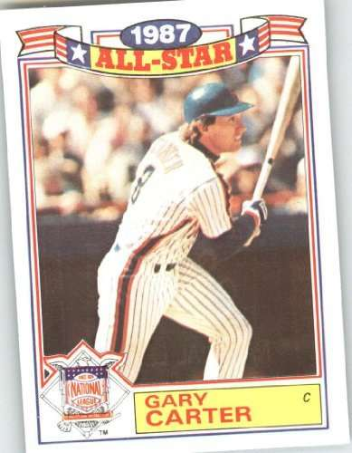 1988 Topps Glossy All Stars #20 Gary Carter - New York Mets (1987 All Star Game) (Baseball Cards)