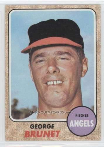 1968 Topps #347 - George Brunet RC