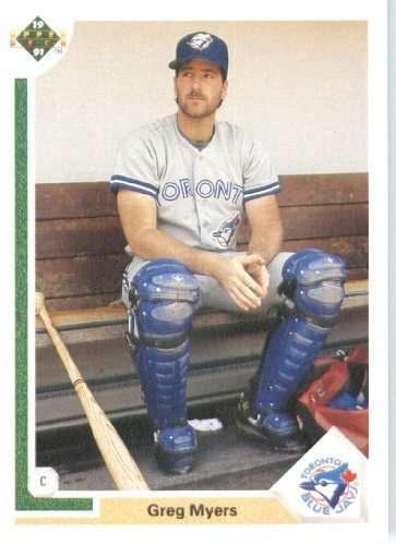 1991 Upper Deck #259 Greg Myers Toronto Blue Jays / MLB Baseball Card in Protective Display Case!