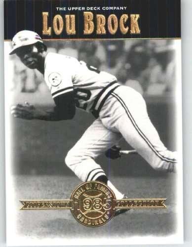 2001 Upper Deck Hall of Famers #6 Lou Brock - St. Louis Cardinals (Baseball Cards)