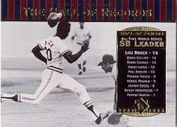 2001 Upper Deck Hall of Famers Card #89 Lou Brock