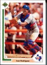 Ivan Rodriguez 1991 Upper Deck Final Edition Rookie Baseball Card #55f