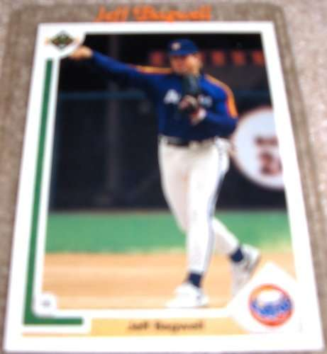 1991 Upper Deck #755 Jeff Bagwell (RC - Rookie Card) Houston Astros / MLB Baseball Card in Protective Display Case!
