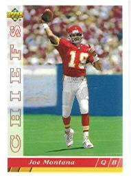 1993 Upper Deck Joe Montana Football Card #460 - Shipped In Protective Display Case!