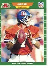 John Elway 1989 Pro-Set Football Card #100