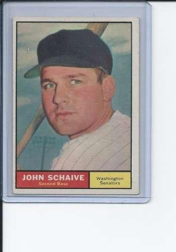 1961 Topps #259 John Schaive EX - Ex. or Better