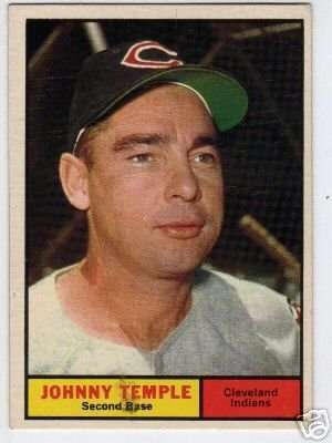 1961 Topps #155 Johnny Temple EX - Excellent or Better