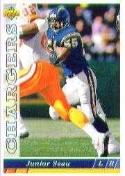 1993 Upper Deck #247 Junior Seau - San Diego Chargers (Football Cards)