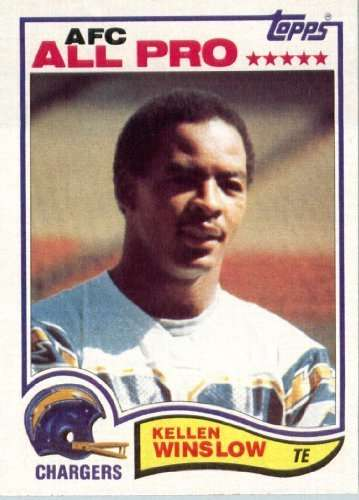 1982 Topps #241 Kellen Winslow San Diego Chargers Football Card - In Protective Screwdown Display Case!