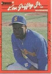 Ken Griffey Jr. 1990 Donruss Baseball Card #365 (2nd Year Card)