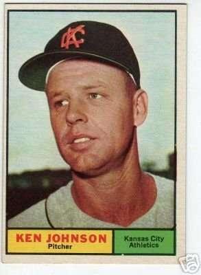 1961 Topps #24 Ken Johnson Excellent-Near Mint