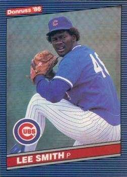1986 Donruss #144 Lee Smith Chicago Cubs Baseball Card
