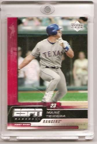 2005 Upper Deck ESPN #86 Mark Teixeira Texas Rangers Baseball Card - Mint Condition- Shipped In Protective Screwdown Case!