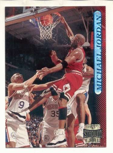 1996/1997 Topps Stadium Club #101 Michael Jordan Chicago Bulls Basketball Card