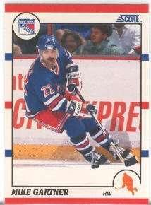 1990-91 Score #130 Mike Gartner (Hockey Cards)