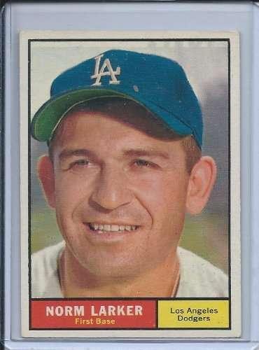 1961 Topps #130 Norm Larker Dodgers Baseball Card