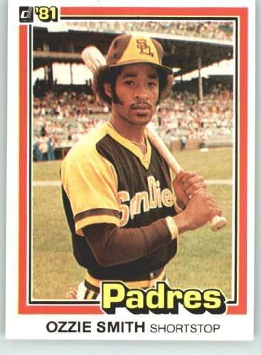 1981 Donruss #1 Ozzie Smith San Diego Padres Baseball Card