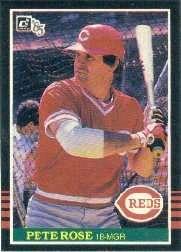 Bases Loaded Baseball Cards Item 337707 Pete Rose 1985
