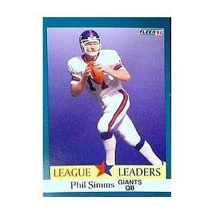 1991 Fleer #414 Phil Simms LL New York Giants Football Card