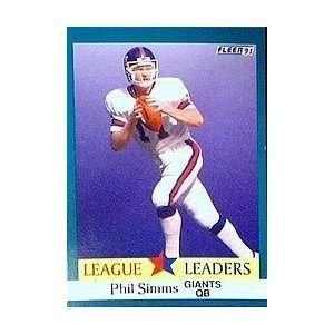 1991 Fleer #414 Phil Simms LL New York Giants Football Card