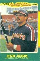 1986 Fleer Limited Edition #26 Reggie Jackson