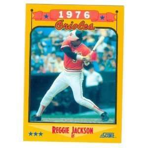 1988 Score #501 Reggie Jackson O's Baltimore Orioles Baseball Card