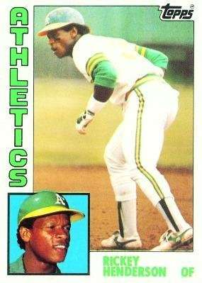 1984 Topps #230 Rickey Henderson Oakland Athletics Baseball Card