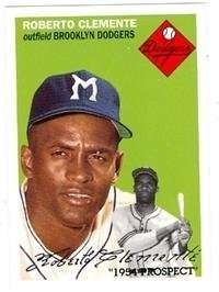 Roberto Clemente Baseball Card 1995 Topps Archives #251 - Excellent Condition Brooklyn Dodgers