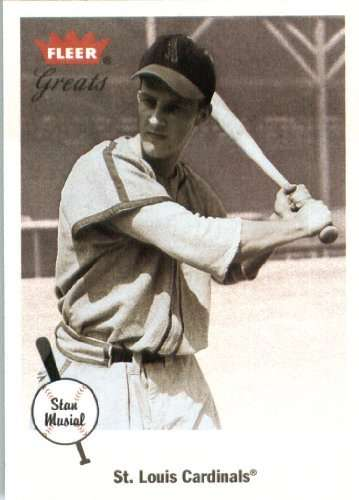 2002 Fleer Greats of The Game Baseball Card #88 Stan Musial St. Louis Cardinals