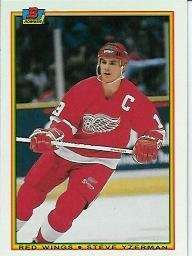 Steve Yzerman 1990-91 Bowman Card #233