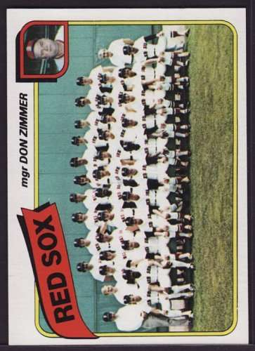 1980 Topps 689 Red Sox Team CL#{Don Zimmer MG (Baseball Cards) Boston Red Sox