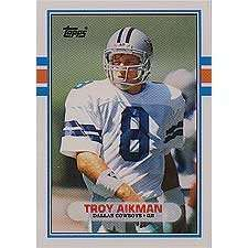 Troy Aikman 1989 Topps Traded Rookie Football Card #70-T - Shipped In Protective Display Case!