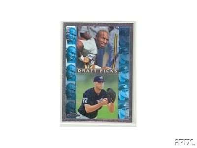 1998 Topps Chrome #492 Troy Glaus Anaheim Angels / J.J. Davis (RC - Rookie Card)